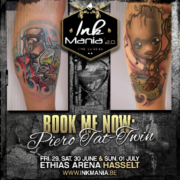 Ink Mania 2018 - Piero Tat twin